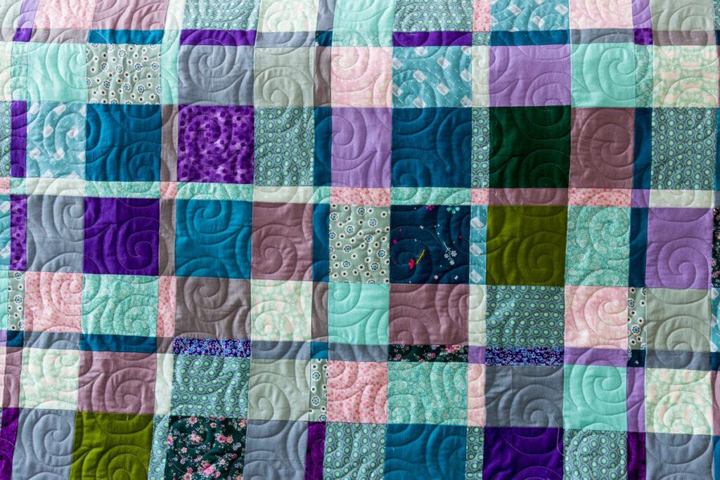 Patchwork wzory - ślimaczki